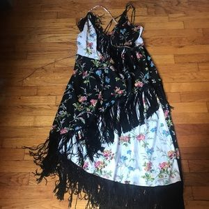 Never worn! Fringe pattern dress